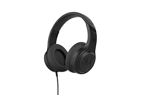 Motorola Lifestyle Pulse 120 Bass - Corded Over-Ear Headphone - Ultra Lightweight and Foldable - Microphone for Calls and Voice Assistant - Black