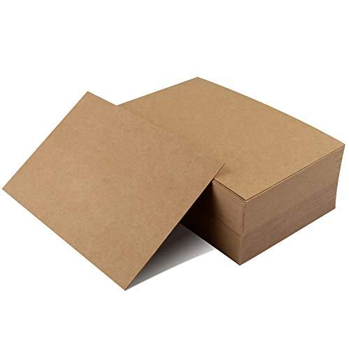 100 Pezzi Kraft Paper,Carte di Carta Bianche,Biglietti per Appunti, Cartolina d'auguri Carte di Parole Kraft Cartoncino Schede di Memoria Carta di Carta fai-da-te Piccola Graffiti Carta