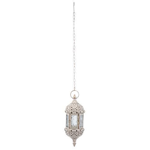 Minkissy Lámpara de Vela Colgante Retro Marroquí Candelabro de Hierro Candelabro de...