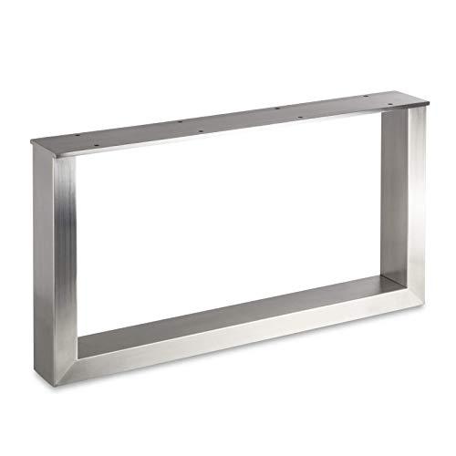 Tischgestell KUFE ECHT Edelstahl/Profil 80 x 40 mm/Höhe: 400 mm/Tiefe: 700 mm höhenverstellbar Tischuntergestell Tischkufe Tischbein Tischfuß von SO-TECH®