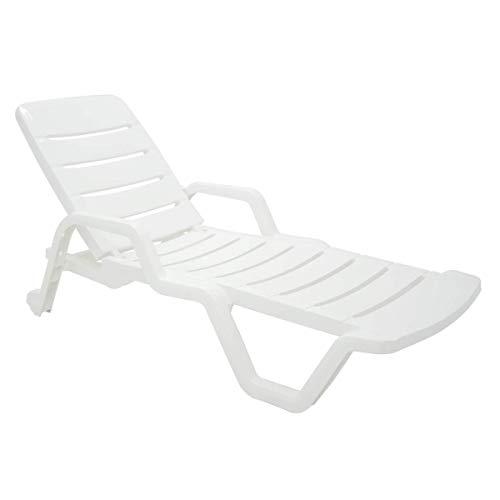 'Cadeira Plástica Espreguiçadeira Tramontina, Leblon, Branco - 92256010'