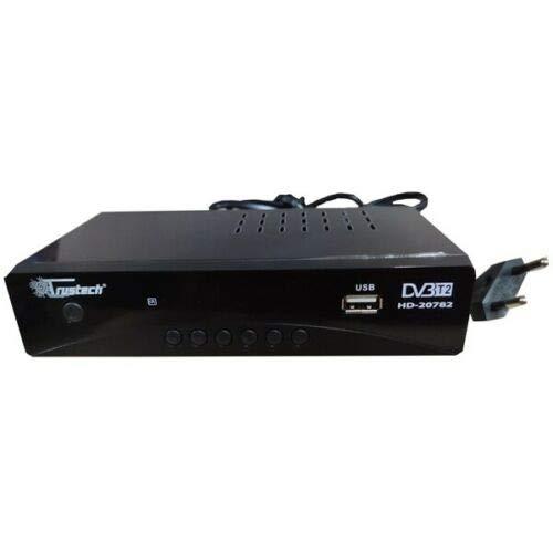 Trustech Decoder Digitale Terrestre DVB T2 / HDMI / DVB T2 HEVC / Full HD Ricevitore TV / Registratore USB / Decoder PVR / DVB-T2 /4K, Decoder Digitale Terrestre Scart, Decoder, Nero
