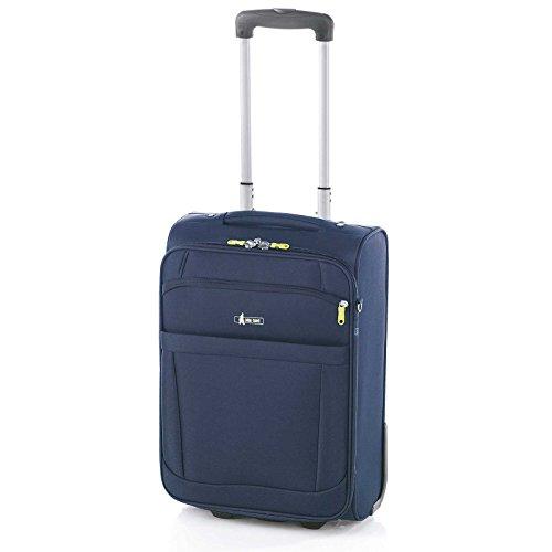 Maleta de Viaje de 2 Ruedas, Bemus de John Travel (Azul Marino, S)