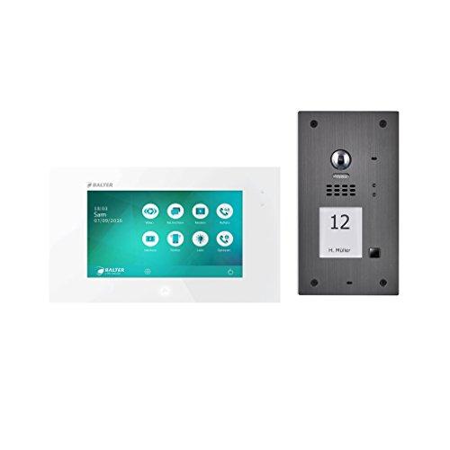 BALTER EVIDA Video-Türsprechanlage ✓ Touchscreen 7 Zoll Monitor ✓ 2-Draht Bus ✓ Türstation für 1 Familienhaus ✓ 170° Weitwinkel-Kamera