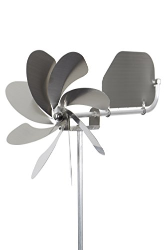 steel4you A1004 SKARAT Windrad Windmühle Speedy20 Plus aus Edelstahl (20cm Rotor-Durchmesser), kugelgelagert, mit Windfahne (360° Grad drehbar) - Made in Germany