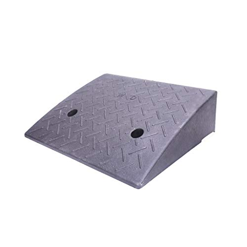 Leichte, tragbare Rampen zur Straße/Pannenschutz Rampen Auslieferer Uphill Rampen (Material: Gummi und Kunststoff) (Color : Black, Size : 50 * 38 * 15CM)