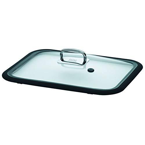 Silit Glasdeckel für ecompact Dampfgarer Bräter, Ersatzteil, Metallgriff spülmaschinengeeignet