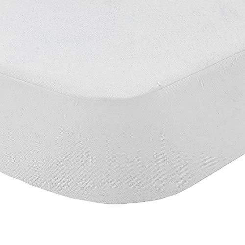 Sábana Bajera Ajustable Sábana Bajera Impermeable Transpirable Barrera Antiácaro 100% Algodón 135 x 190/200 cm