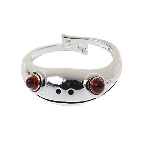 VEED Cute Frog Open Rings Women Vintage Cute Animal Frog Finger Ring Band Adjustable