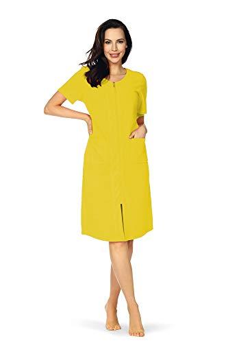 Comtessa strandjurk voor dames, huisjurk, badstof jurk, korte mouwen, ritssluiting, katoen, zonnig