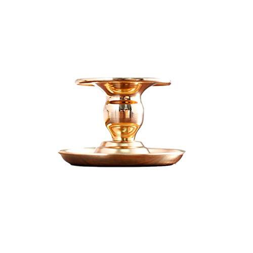 MOOBOM Gold Taper Candle Holders,Metal Pillar Table Decoration Candlestick Holder for Home Decor, Christmas, Halloween