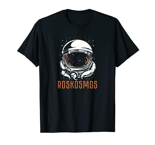 Roskosmos Weltraum russische Behörde Raumanzug Russland T-Shirt