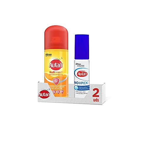 Autan Pack Protection Plus Aerosol + No+Pick, Repelente Multi Insecto + Tratamiento de picaduras,...
