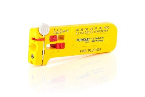 JOKARI®original Mini-Präzisions-Abisolierwerkzeug SWS-Plus 012 zum Abisolieren von feinen Leitern und Litzen AWG 36, 0,12 mm Ø, Art.Nr. 40015