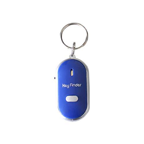 Morninganswer Sensor de silbido inalámbrico Buscador de Llaves Buscador de Llaves Inteligente Sensor de silbido Anti-perdida Rastreador de llaveros Localizador de silbidos y aplausos LED Azul