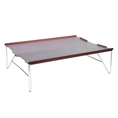 Mesa auxiliar para acampar, ligera, portátil, desmontable, compacta, plegable, para acampar, fácil de limpiar,...