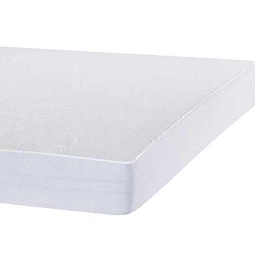 Bedecor Breathable Waterproof Mattress Protector Fitted Mattress Cover Soft Cotton, Single Size (90x190/200cm)