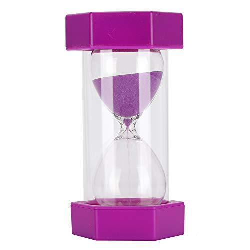 Temporizador de arena, temporizador portátil de 10 minutos para niños, oficina, aula, cocina, juegos, reloj temporizador de cepillo de dientes, púrpura
