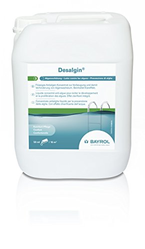 Bayrol Desalgin® 10 L - flüssiges Antialgen-Konzentrat zur Vorbeugung & Verhinderung von Algenwachstum im Pool - brillantes Poolwasser dank Klareffekt - ohne Kupfersulfat