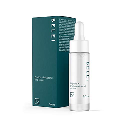Amazon Brand - Belei - Peptide + Hyaluronic Acid Serum, 96.6% natural ingredients, vegan, 30 ml