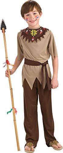 Folat 21684 Native American Combinaison de Guerrier Enfant (3 Pièces, Taille 98–116, Petite Taille)