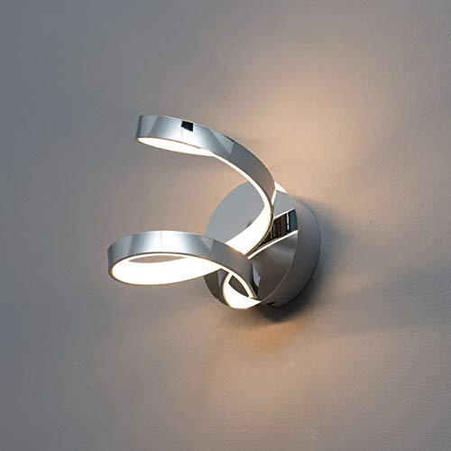 KOSILUM - Applique LED spirale - Film - Lumière Blanc Chaud Eclairage Salon Chambre Cuisine Couloir - 9W - 562 Lm - LED intégrée - IP20
