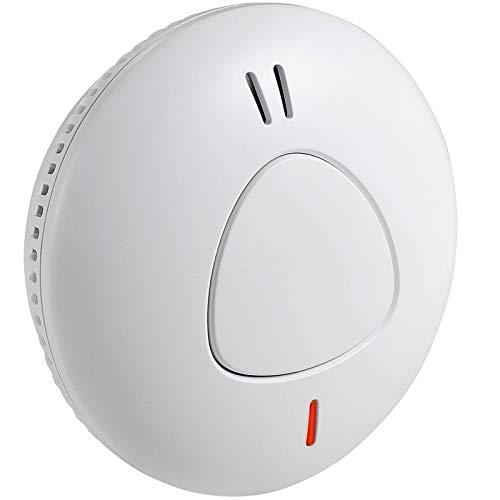 Semoss Rilevatore di Fumo Intelligente a Batteria di 10 Anni Allarme Antincendio Sensore Fotoelettrico per Casa Hotel Autorimesse Appartamenti,Norme TÜV EN 14604,Design Anti Insetti