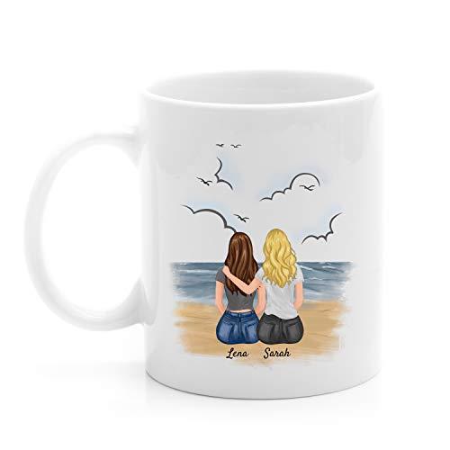 Uniheart Beste Freundinnen - Personalisierte Tasse (2 Personen)