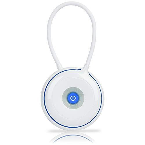Ulighting flexibele zwanenhals led-make-upspiegel op tafel, oogverzorging, USB-poort voor studie, lezen, kantoor en slaapkamer, blauw