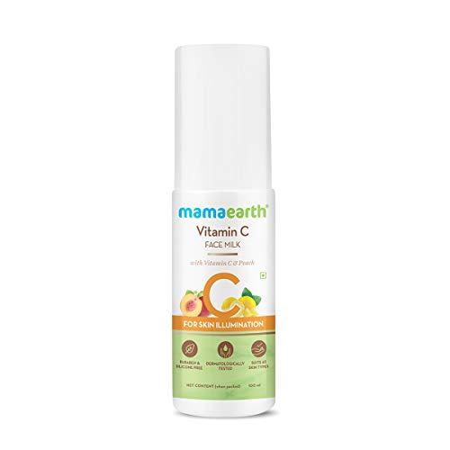 Mamaearth Vitamin C Face Milk Moisturiser with Vitamin C and Peach Moisturizer for Skin Illumination – 100 ml