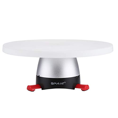FEGGBHE Profesional Bandeja - electrónico rotación de 360 Grados panorámica Cabeza del trípode + Redonda con Control Remoto for teléfonos Inteligentes, GoPro, cámaras DSLR (Azul) (Color : Red)
