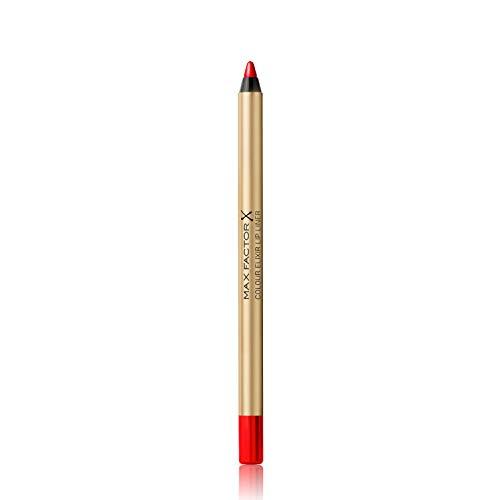 Max Factor Colour Elixir Lip Liner Red Rush 10 – Perfekt definierte Lippenkontur für formvollendete, in Szene gesetzte Lippen – Mit geschmeidigem Auftrag