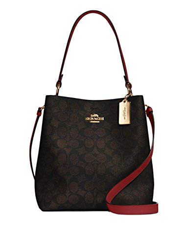 Coach Town Bucket Bag (Brown Red)