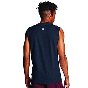 Champion Men's Classic Jersey Muscle T-Shirt, Navy, M