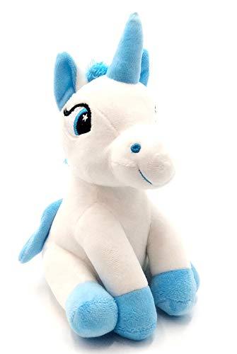 Dimasa Peluche Unicornio, Peluche Unicornio de Peluche con Alas Azules.