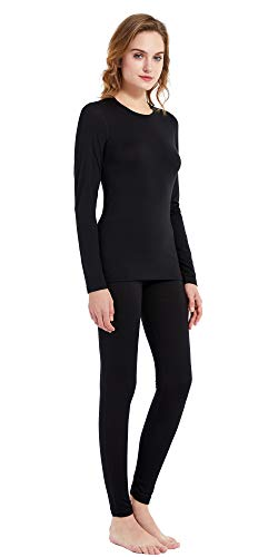 Women's 100% Merino Wool Thermal Underwear Long John Set 260g Base Layer Top and Bottom Warm Winter