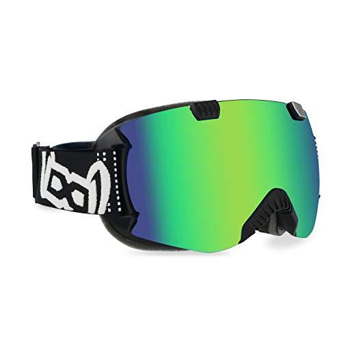 gloryfy unbreakable eyewear Unisex– Erwachsene GP4 Green Multilayer Skibrille, Grün, Mit jedem Helm kompatibel