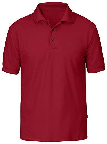 Fjallraven Crowley Pique Shirt, Deep Red, M Mens