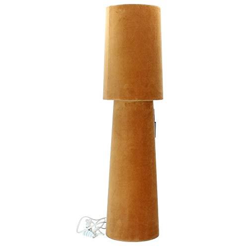 Nordal Lampe Tischleuchte Tischlampe Opus senfgelb Samt