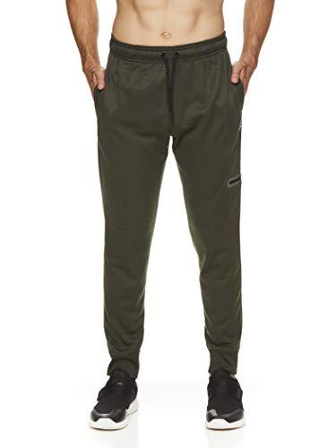 Reebok Men's Jogger Running Pants with Zipper Pockets - Athletic Workout Training & Gym Sweatpants - Radar Jogger Rosin Green Heather, Medium