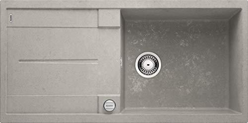 BLANCO METRA XL 6 S, Spülbecken für die Küche, Spüle aus Silgranit, Beton-Style