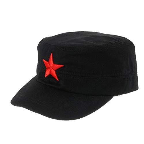 Cinco Puntas Casquillo De La Estrella del Bordado Militares Sombreros Negro Plana Sombrero De Copa del Camuflaje del Ejército Gorros Al Aire Libre