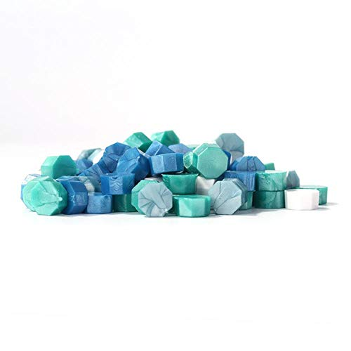 100Pcs Octagonal Sealing Wax Beads for DIY Crafts Envelope Wedding Postcard Making Tools Ancient Wax Seal Stamp Tablet Pill-L,Australia