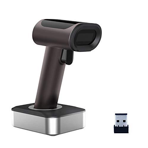 Alacrity 1D Wireless Barcode Scanner mit Ladestation, Freisprech/Bildschirm Scanning unterstützt, Braun