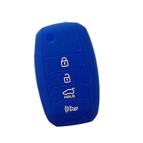 WKX Blue Key Cover Fit for 2013-2016 KIA Sorento Carens Forte Rio Soul Optima Sportage Remote Key Holder Protector Fob Skin Key Cover Keyless Gift TQ8-RKE-3F05