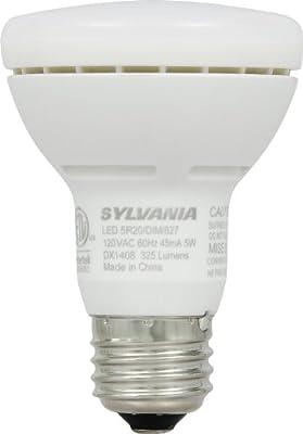 Sylvania 78694/78695 5-watt LED BR20 Reflector Lamp Replacing 45-50-watt Incandescent