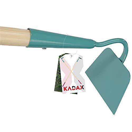 KADAX Hacke, Gartenhacke für Damen, gehärtete Hacke zum Entfernen von Unkraut, Unkrauthacke zum Auflockern des Bodens, Gartenzubehör zum lüften und jäten des Bodens (140 cm, Arbeitsteil: Grün)
