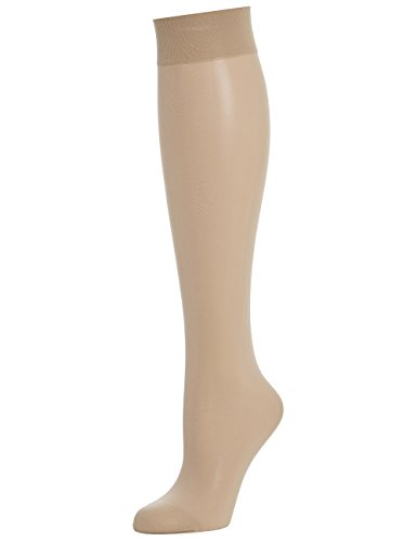 Wolford Individual 10 Knee-Highs Ceñidos, 10 DEN, Beige (cosmético), M para Mujer