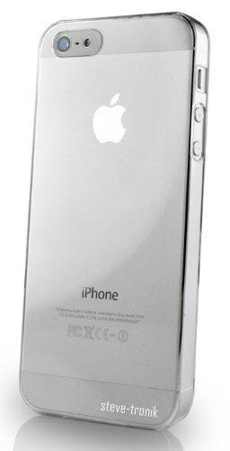 steve-tronik Schutzhülle kompatibel mit iPhone 5 5S 5SE Premium Hardcase - Klar / Transparent Hülle Cover