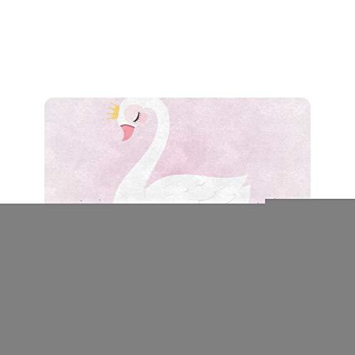 Cute Princess Swan en dibujos animados dibujados a mano 30x18 pulgadas Alfombras de entrada Antideslizante Puerta delantera trasera Entrada Alfombra de entrada Perfil lavable Alfombras de claustro pa
